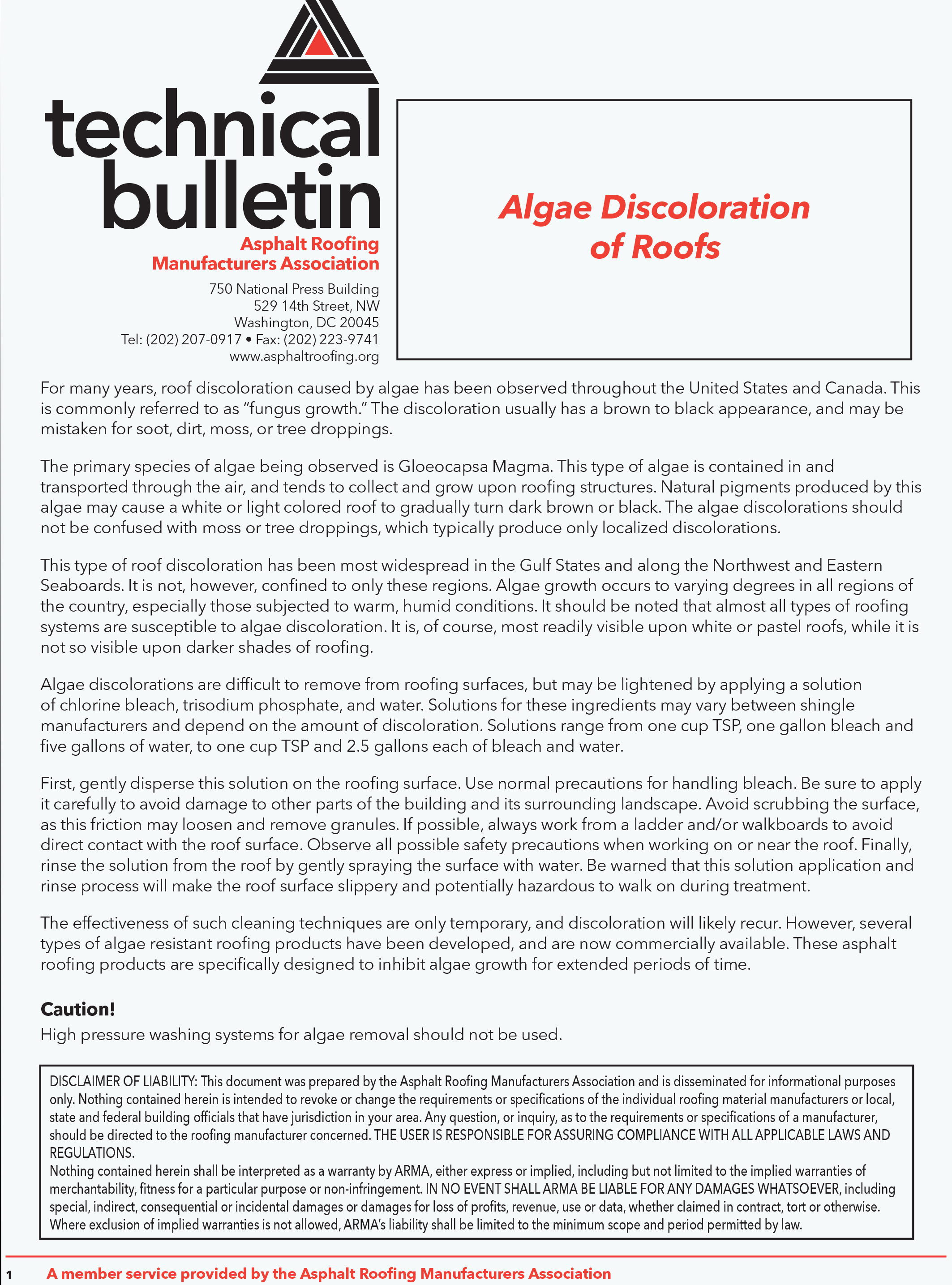 Algae-Discoloration-of-Roofs---ARMA-Technical-Bulletin