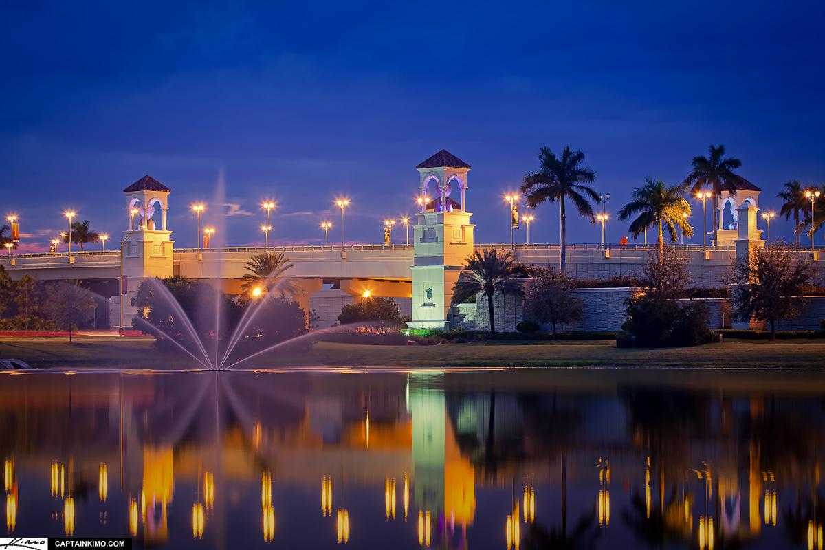 Fountain At Pga Boulevard Bridge In Palm Beach Gardens